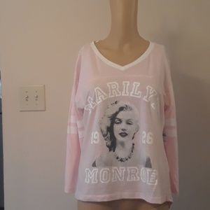 Marilyn Monroe Baseball style Logo T-Shirt